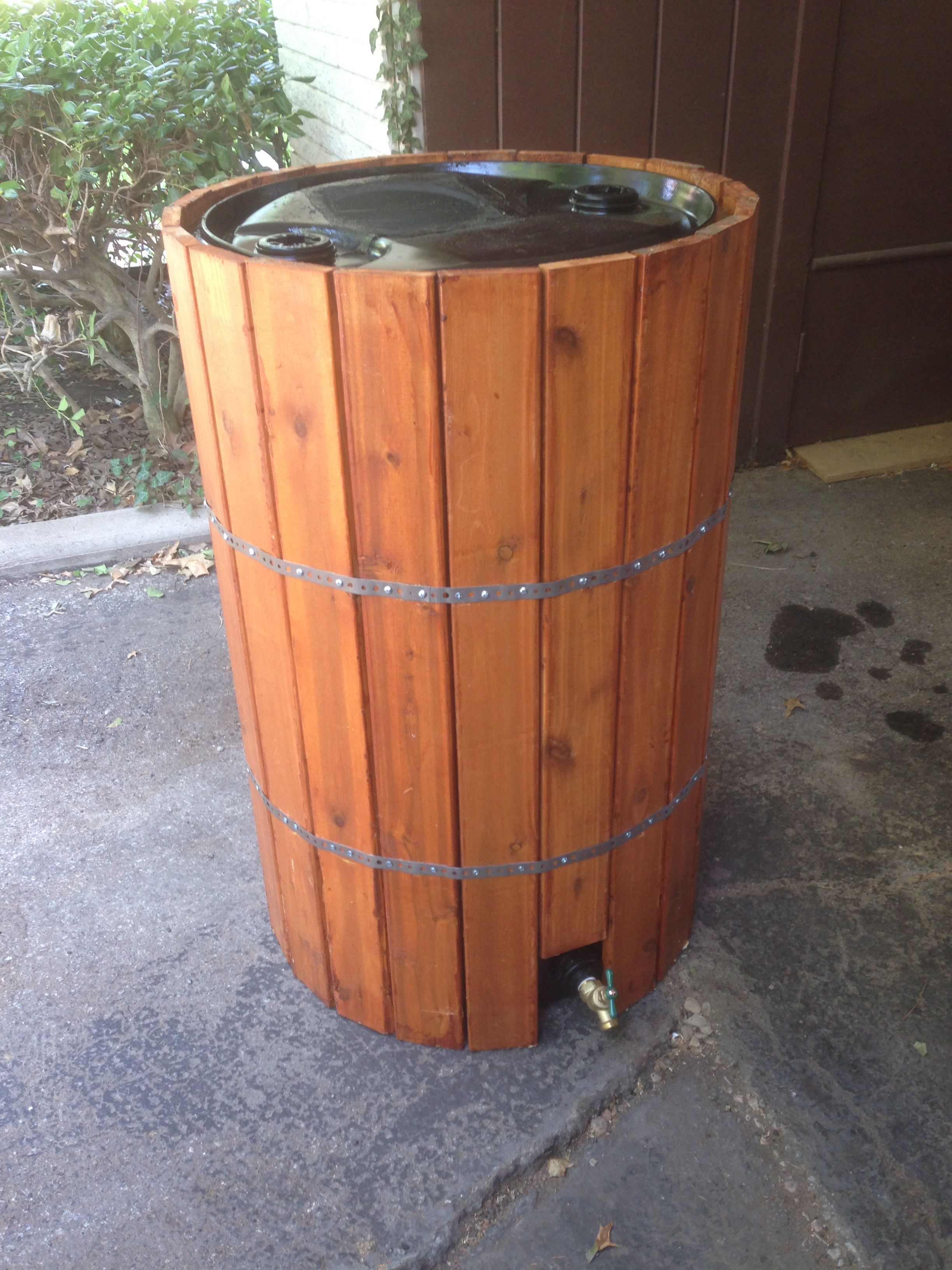 Rain Barrel With Wood Slats 187 Sean Mitchell